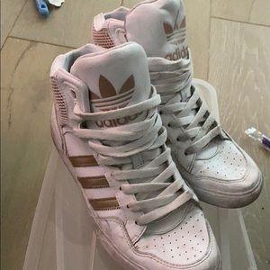 adidas rose gold high tops